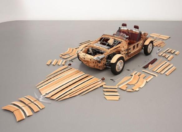 Carro japones de madera